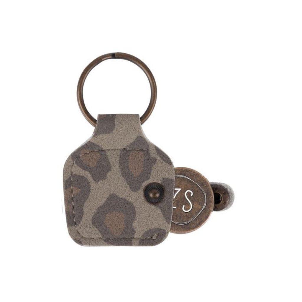 Zusss Winkelwagenmuntje leopard hartje