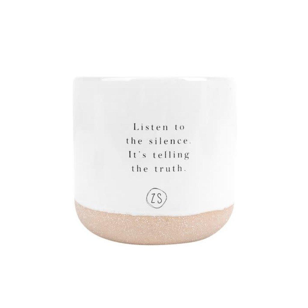 Zusss Keramieken geurkaars listen to the silence