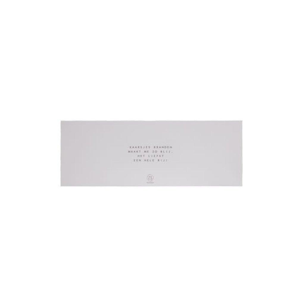 Zusss Set van 4 glaskaarsjes met tekst kaki