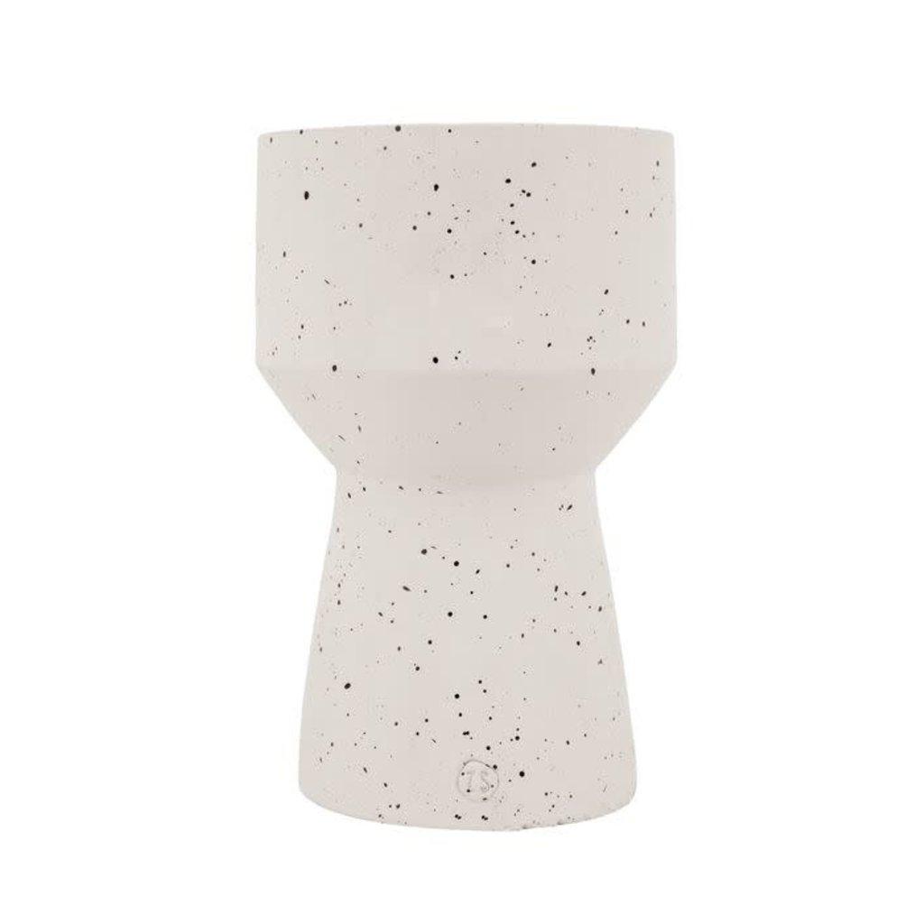 Zusss Moderne vaas keramiek ø16x27cm beton
