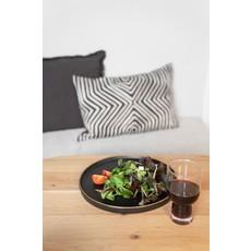 Zusss Dinerbord aardewerk zwart