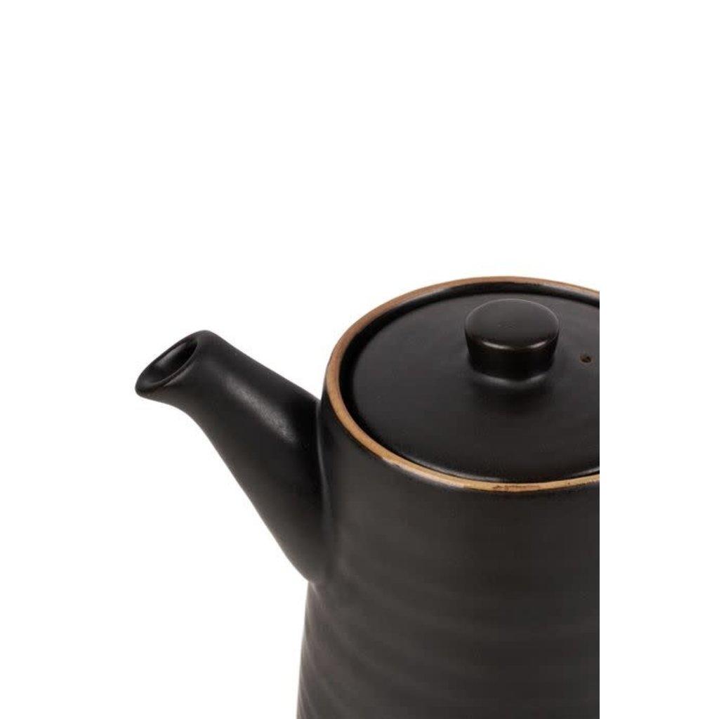 Zusss Theepot aardewerk 1,25L zwart