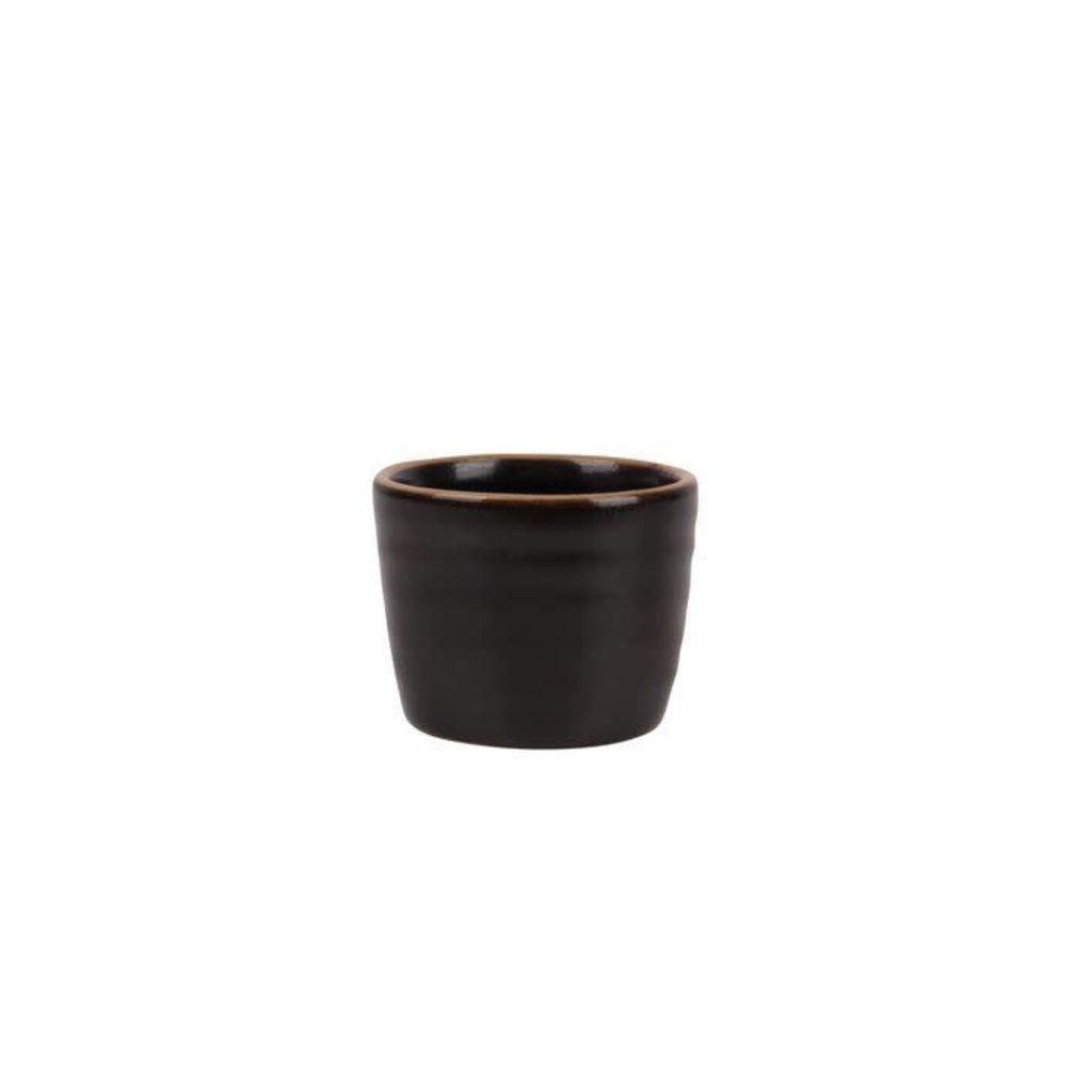 Zusss Eierdopje aardewerk zwart