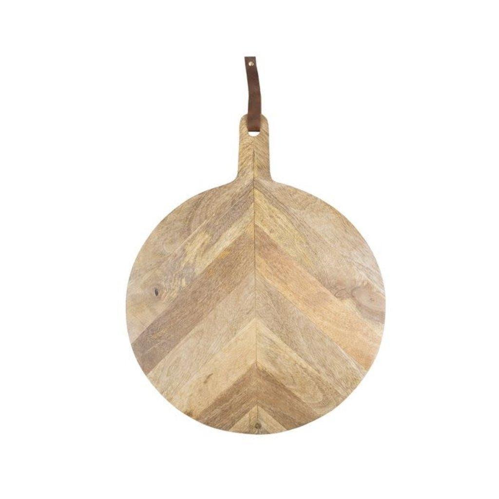 Zusss Houten serveerplank rond 40cm