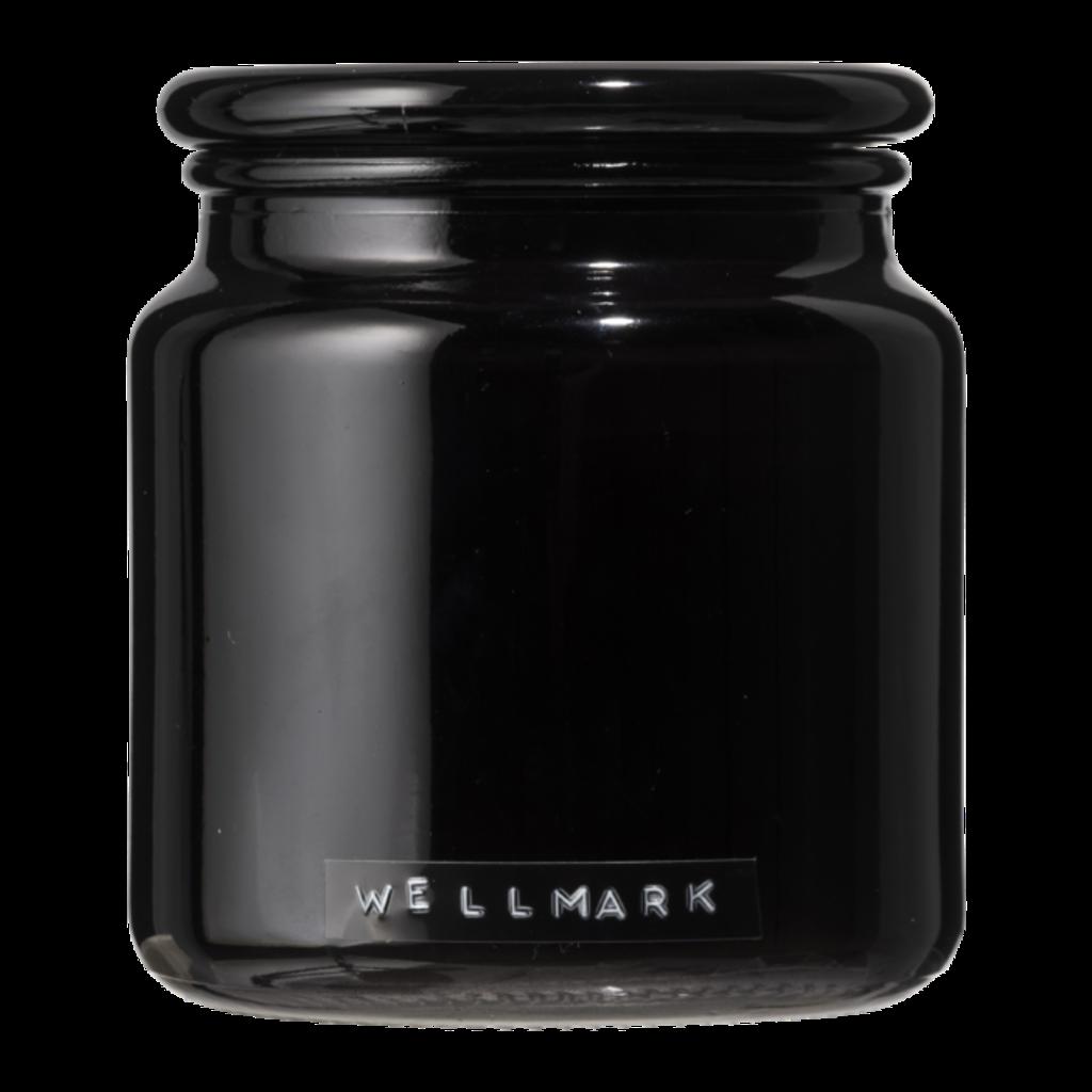 Wellmark Grote geurkaars frisse linnen zwart glas 'let's get cozy'