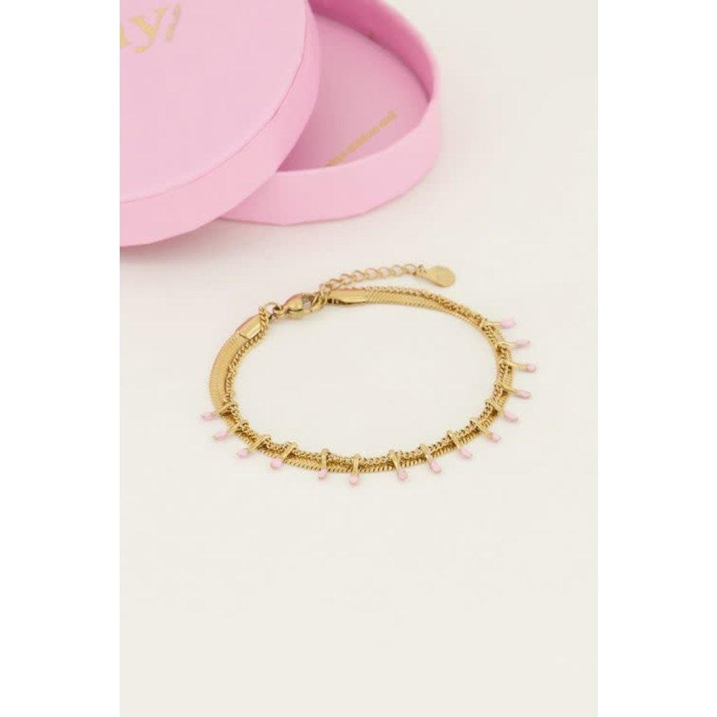 My Jewellery Armband dubbel roze