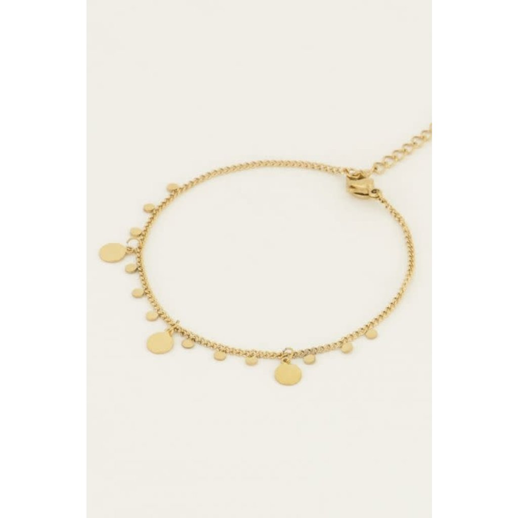 My Jewellery Armband ronde bedels goud