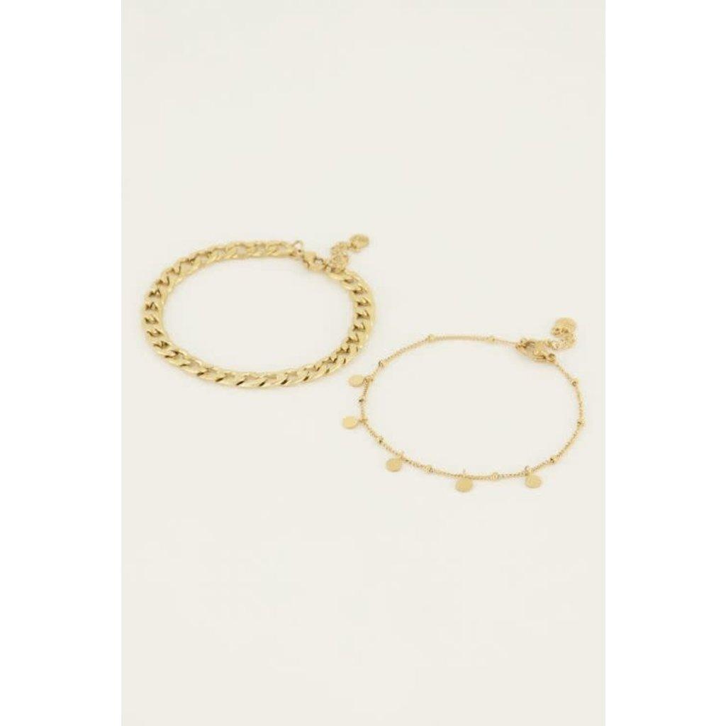 My Jewellery Armbanden set muntjes goud