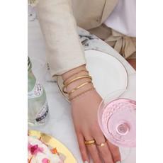 My Jewellery Armband dubbel lila goud