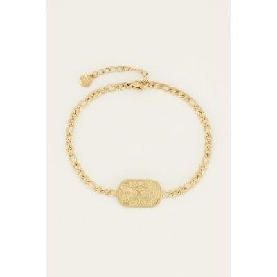 My Jewellery Schakelarmband met plaatje goud
