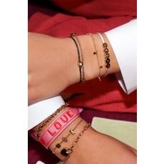 My Jewellery Touw armband hartje goud