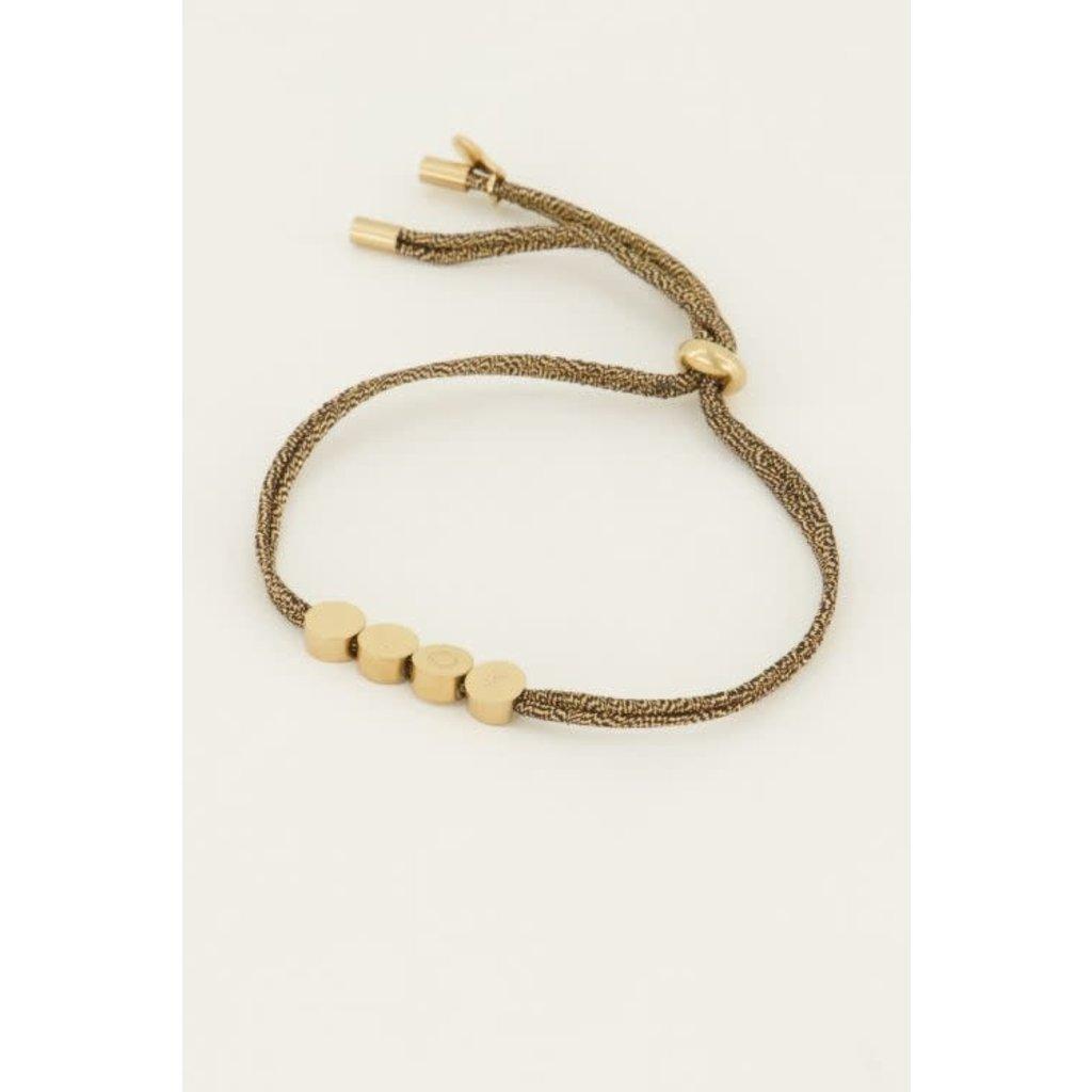 My Jewellery Touw armband luck goud