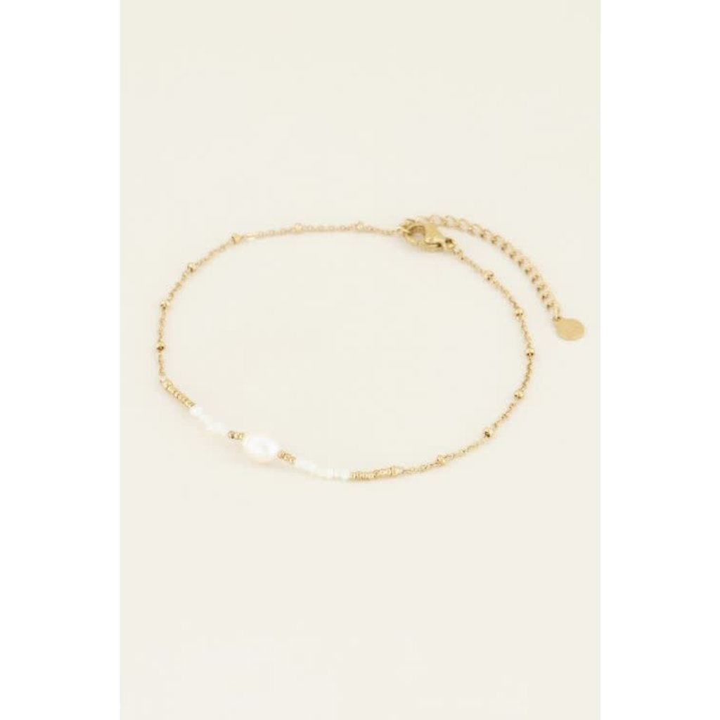 My Jewellery Enkelbandje kralen & parel goud