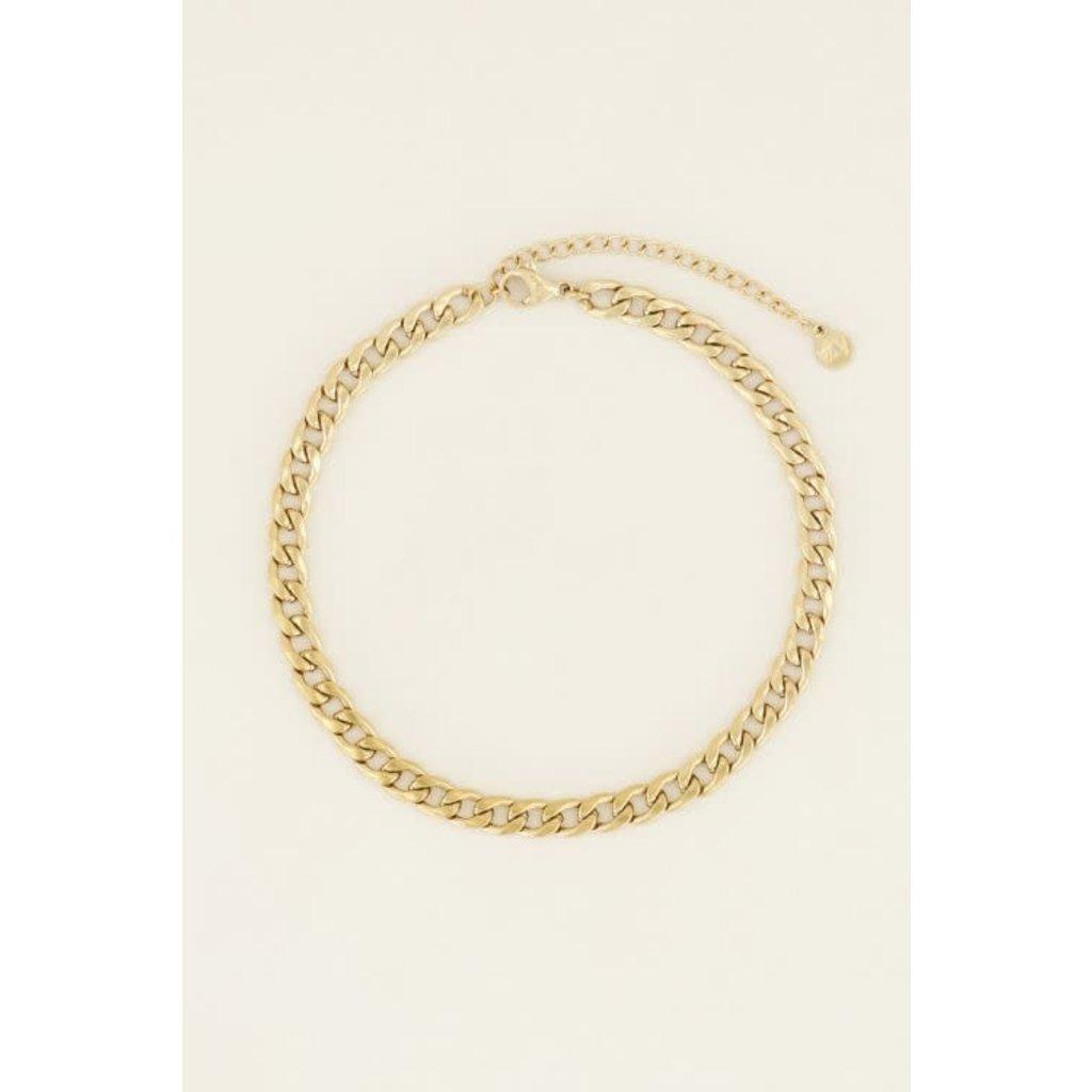 My Jewellery Enkelbandje schakels goud