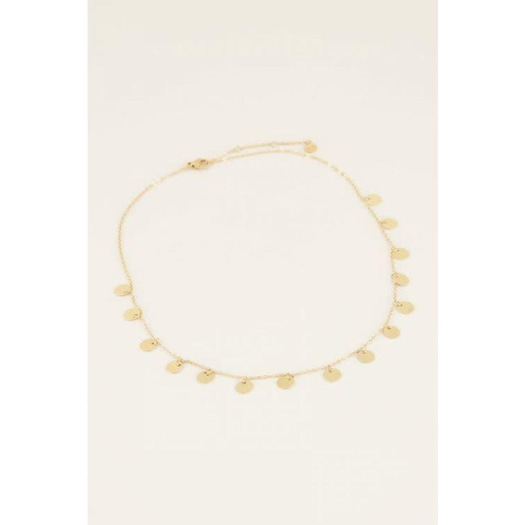 My Jewellery Ketting lang met muntjes goud
