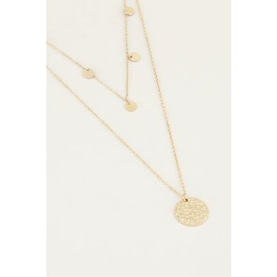 My Jewellery Dubbele ketting muntjes goud