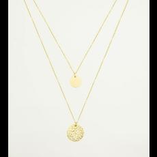 My Jewellery Dubbele ketting munten goud