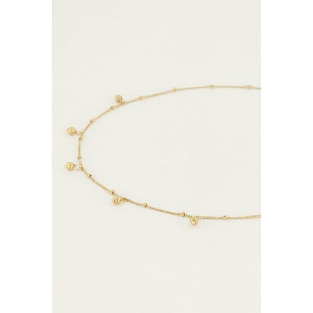My Jewellery Ketting bolletjes goud