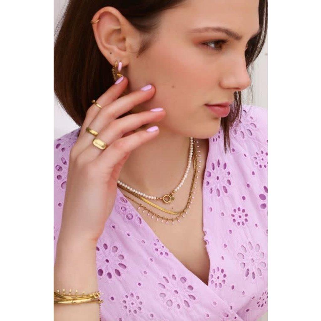 My Jewellery Ketting dubbel roze goud