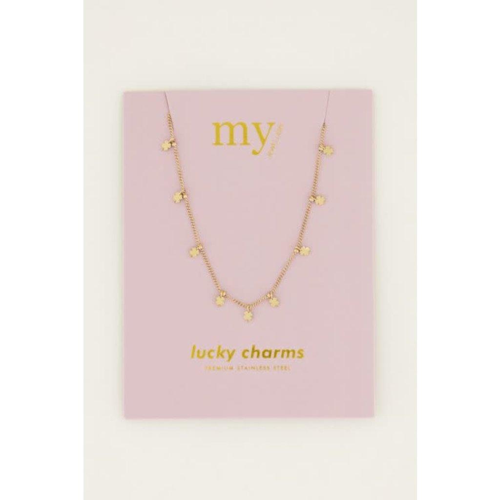 My Jewellery Ketting klavertjes goud