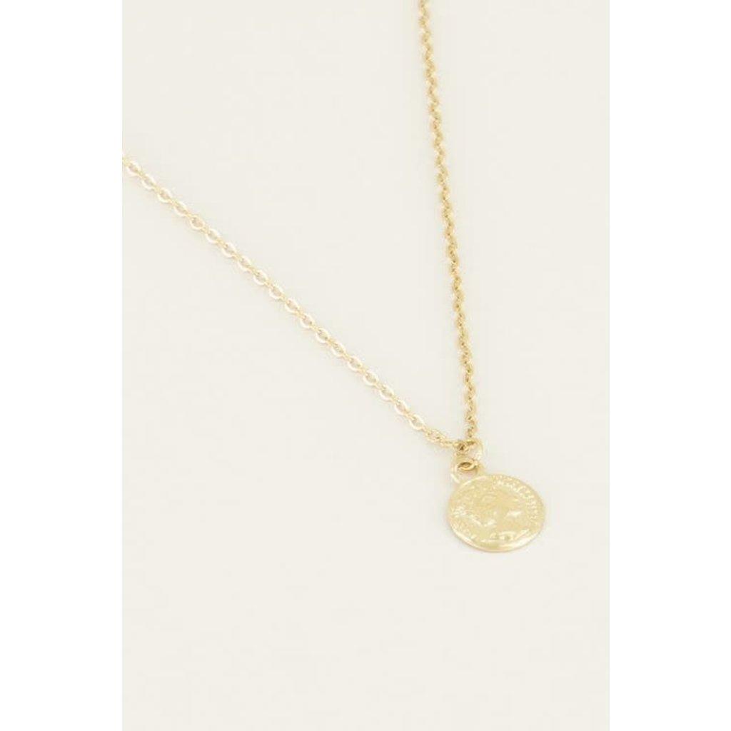 My Jewellery Ketting klein muntje goud