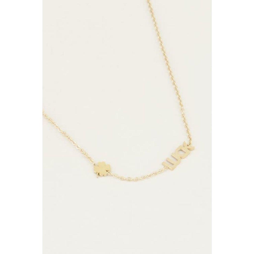My Jewellery Ketting met luck en klaver goud
