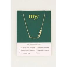 My Jewellery Ketting met maantje en dream goud