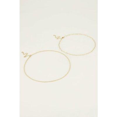 My Jewellery Kettingen set bolletjes goud