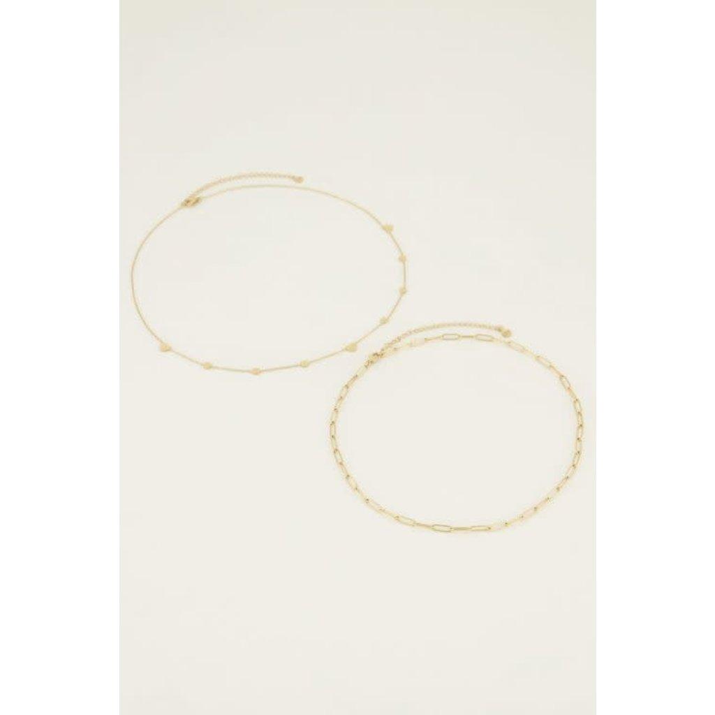 My Jewellery Kettingen set schakelhart goud