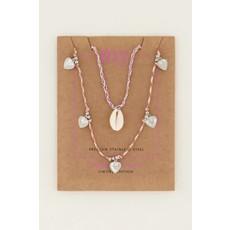 My Jewellery Kettingen set schelp & hartjes