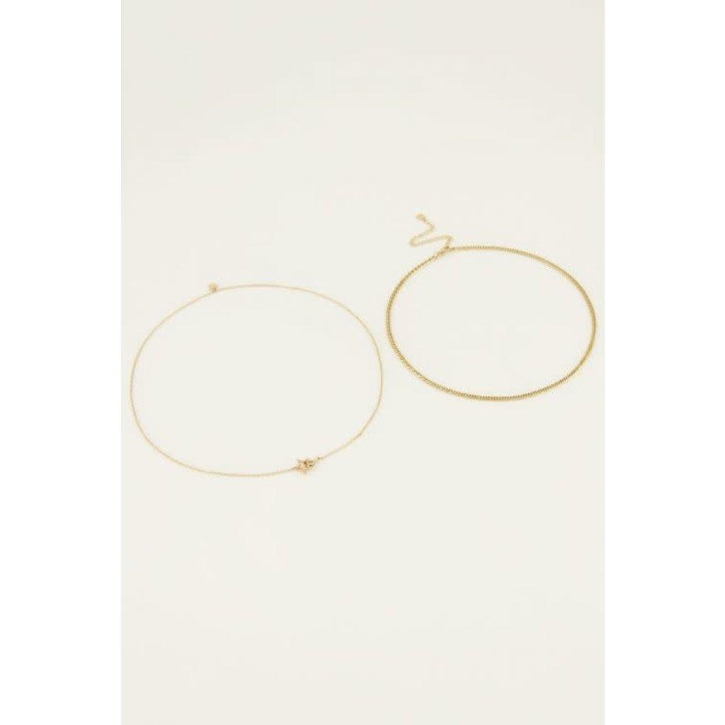 My Jewellery Kettingen set sterretje goud