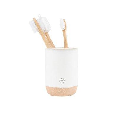 Zusss Keramieken tandenborstelhouder wit