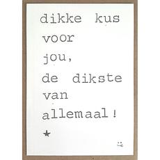 Postkaarten By Mar Dikke kus voor jou