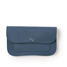 Keecie Blauwe leren portemonnee, Flash Forward, Faded Blue
