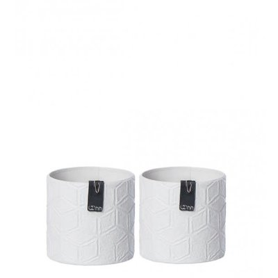 Oohh Zero Waste Graphic paper pot, Grey, Mix of 2 patterns