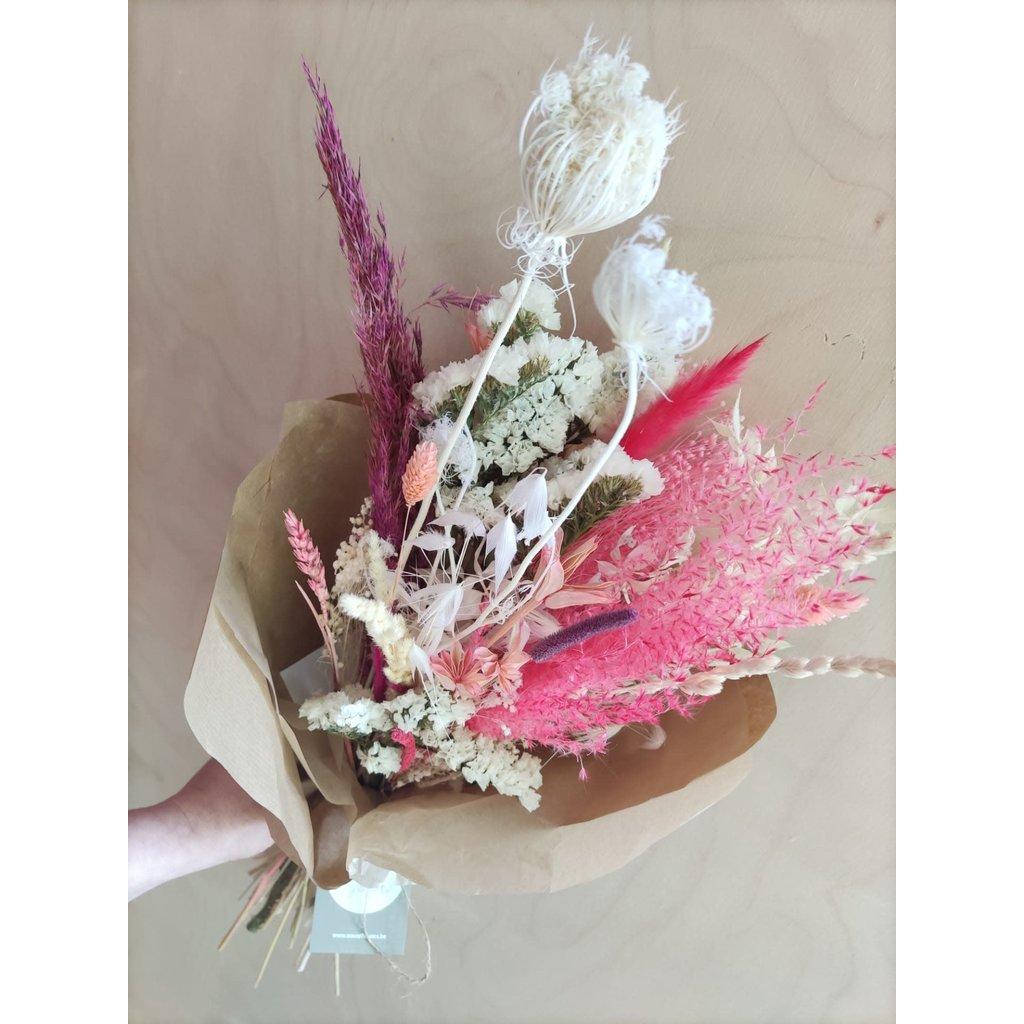 Wauw Flowers Boeket Cerise - wit