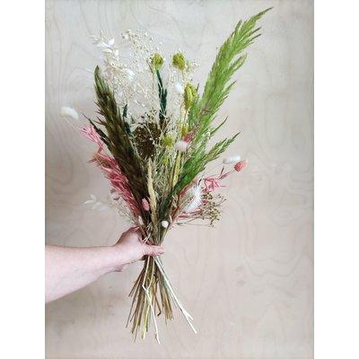 Wauw Flowers Boeket groen - roze