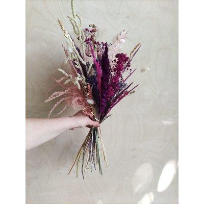 Wauw Flowers Boeket paars - cerise