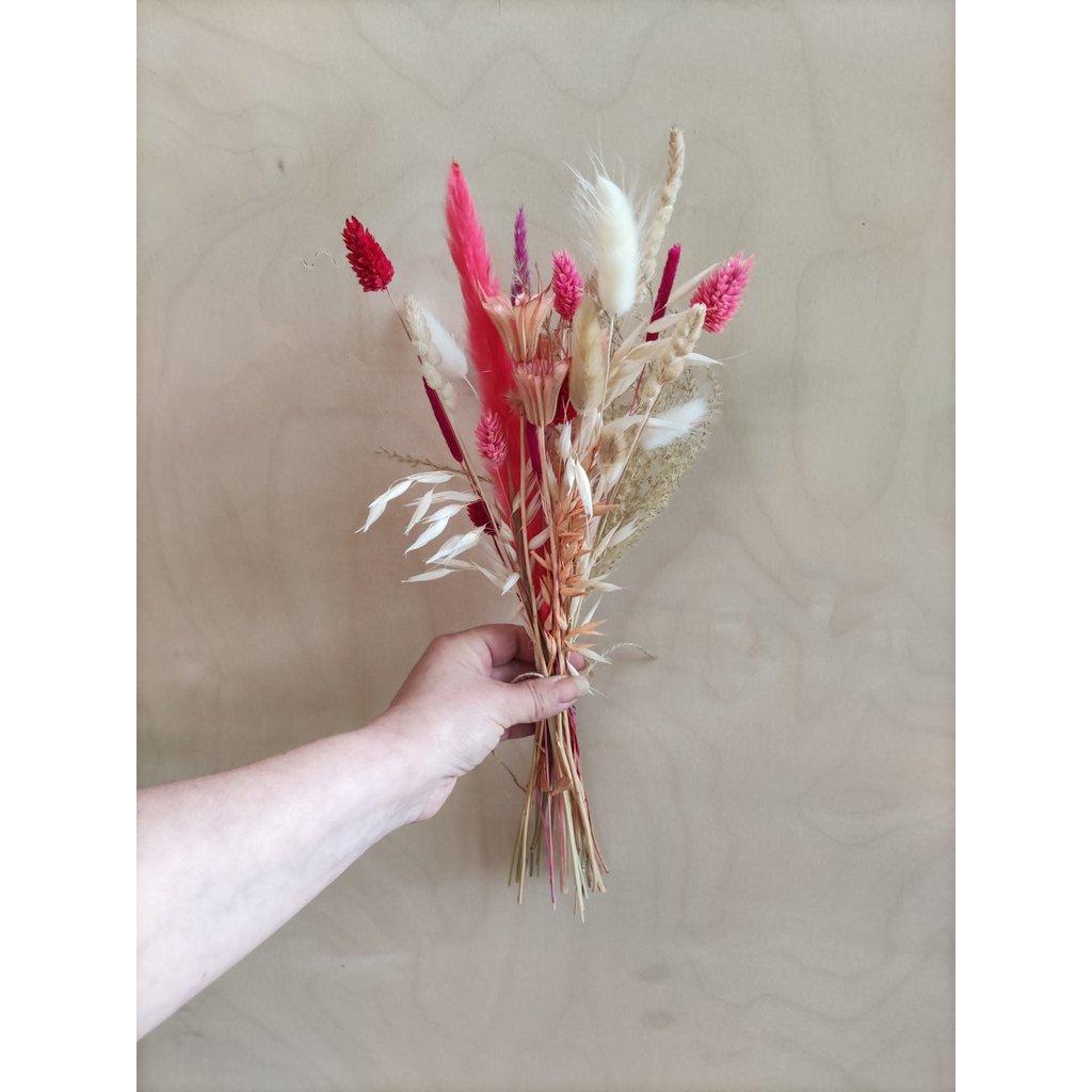 Wauw Flowers Boeket roos/ peach/ wit