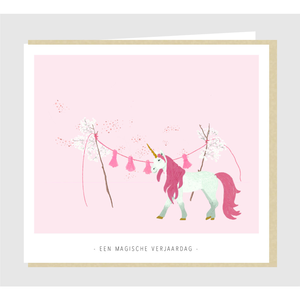 Studio Mie Een magische verjaardag eenhoorn