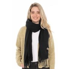 Zusss Basic sjaal met franjes zwart