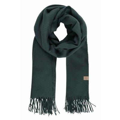 Zusss Basic sjaal met franjes donkergroen