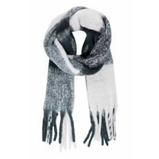 Zusss Geruite sjaal met franjes donkergroen