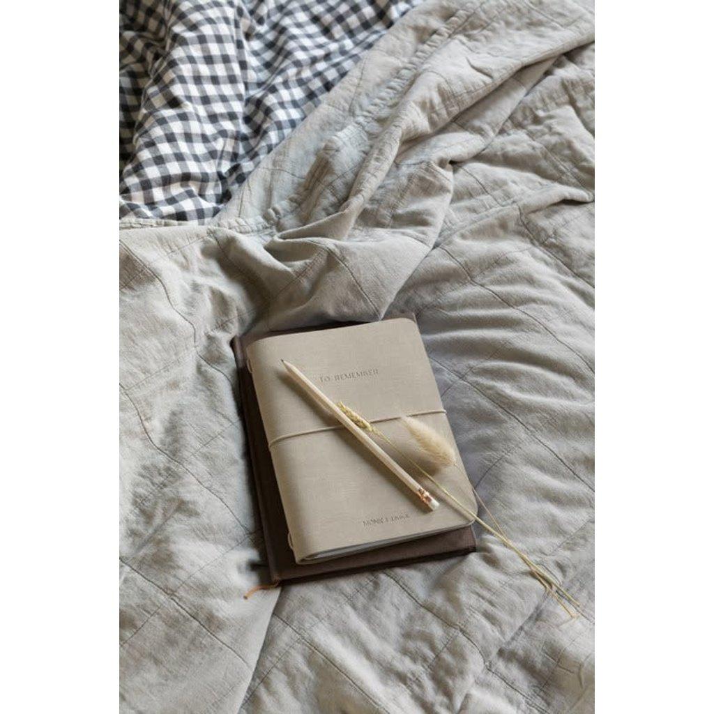 Monk & Anna Monk & Anna Notebook M   vegan leather - sea shell