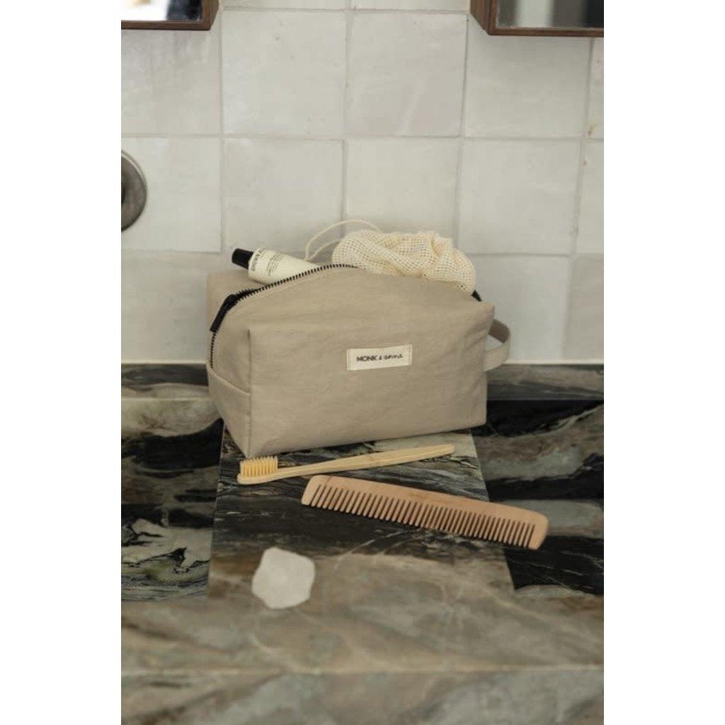 Monk & Anna Monk & Anna Toiletry bag | linen - Sea shell