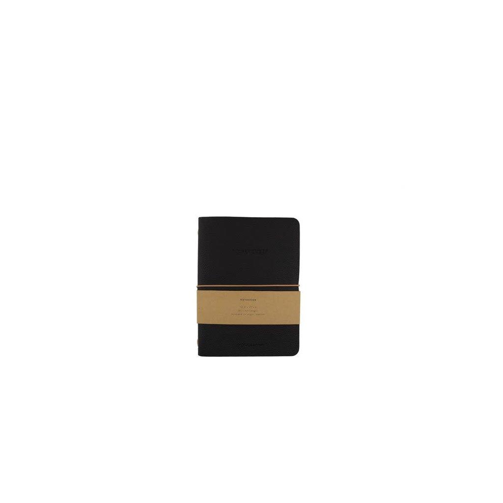 Monk & Anna Monk & Anna Notebook M   vegan leather - Black