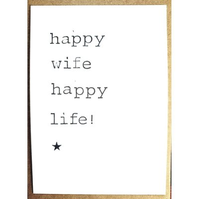 Postkaarten By Mar Happy wife happy life!