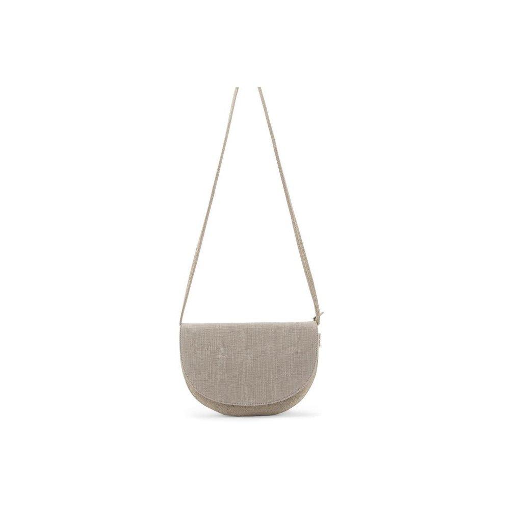 Monk & Anna Monk & Anna Soma half moon bag | linen