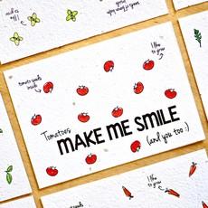 Bloom your message Bloom your message Bloeikaart: Smile - tomato