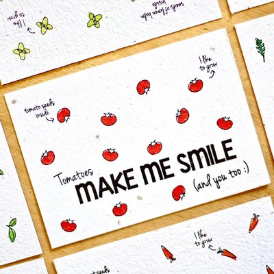 Bloom your message Bloeikaart: Smile - tomato